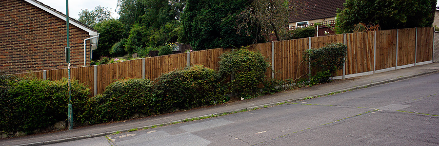 fence services, maidstone, slope